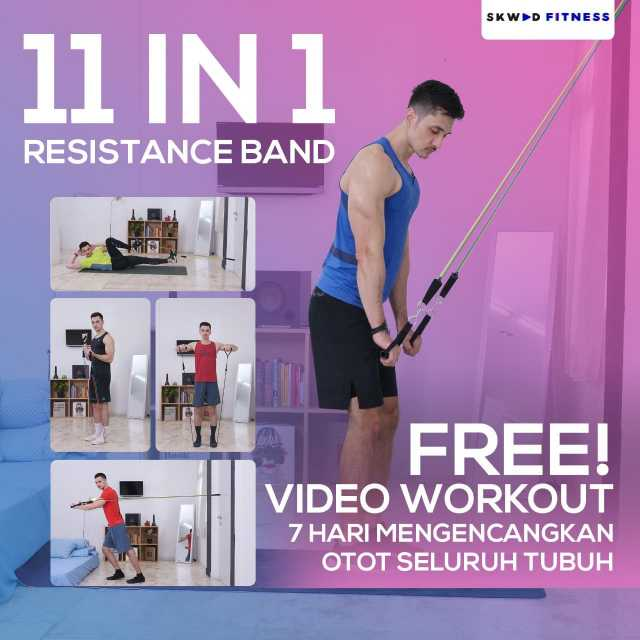 11 IN 1 Resistance band / Resistance band tubes / Resistance band /